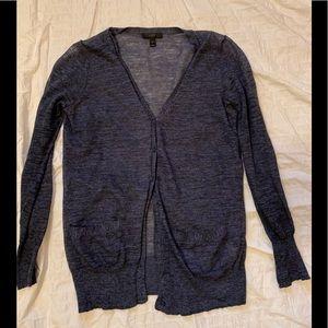 JCrew light linen-blend cardigan.